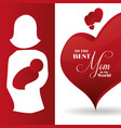 best mom ever card creative decoration vector image