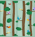 birds on different branches vector image