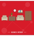 Business interior concept vector image