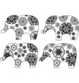 Decorative elephant silhouette vector image