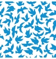 Flying dove birds seamless pattern vector image