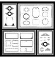 frame and ornaments vector image