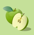 Ripe green apples vector image