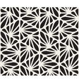 Seamless Black and White Floral Organic vector image