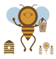 strong bee vector image
