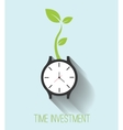 Time investment vector image