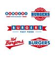 Vintage fast food restaurant logo set vector image
