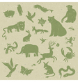 zoo themed patterned recycle paper vector image vector image