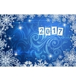 Greeting card for year 2017 vector image vector image