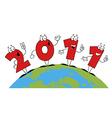2011 New Years cartoon vector image vector image