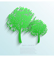 tree background Eps10 vector image