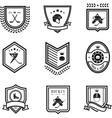 hockey sport icons vector image