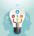 Modern Design light bulb style infographic templet vector image vector image