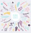 Floral elements Hand drawn design elements vector image