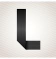 Letter metal ribbon - L vector image vector image