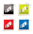 New paper tag vector image vector image