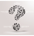 Black Question mark from Question icons vector image