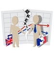 Britain and France Brexit Severance of relations vector image