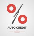 Auto credit vector image