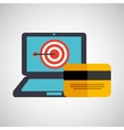 business strategy technology credit card money vector image