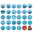 emojis chat icons vector image