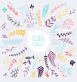 Floral elements Hand drawn design elements vector image