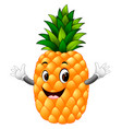 pineapple with face vector image