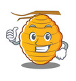 thumbs up bee hive character cartoon vector image