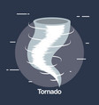 twister weather symbol icon vector image