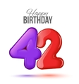 Birthday greeting card template with glossy forty vector image