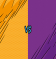 Versus letters fight backgrounds comics style vector image vector image