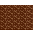 seamless coffee grains pattern vector image vector image