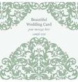 Wedding Invitation card pearls delicate lace vector image
