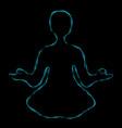 blue meditating aura vector image vector image