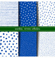 set of six hand drawn seamless patterns vector image vector image