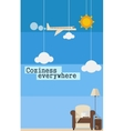 Poster about comfortable travel vector image