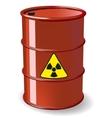 Red barrel vector image
