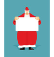 Good Santa Claus holding blank sign with space for vector image vector image