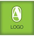 A logo monogram vector image vector image