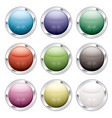 button candid silver vector image vector image