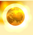 Gold Earth background vector image vector image