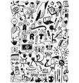 art tools paint doodles vector image