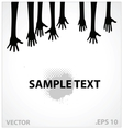 Hands sign black color vector image