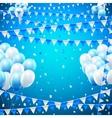 Holiday baloon banner vector image