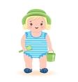 Little Girl At Beach vector image