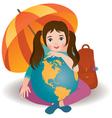 Little traveler vector image