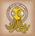 Octopus scuba robot logo vector image