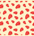 seamless pattern with meat vector image