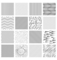 Thin line pattern set Crossing and slanted wavy vector image vector image