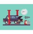 Car service Auto diagnostics and transport repair vector image
